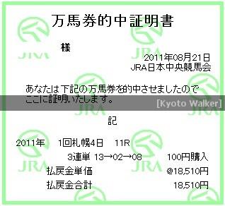 8.21. 札幌記念